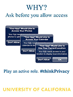WHY? Ask before you allow access. Flier.